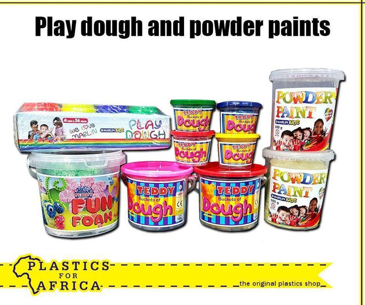 Play dough is a fun way to increase your pre-schooler's awareness of shapes, colour and learning to use their own imagination and creativity. Get this play dough and powder paints, available from your nearest #PlasticsforAfrica store. #fun