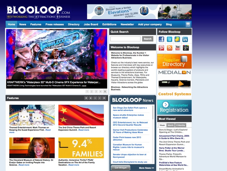 Blooloop.com features Waterplexx 5D // July 20, 2012