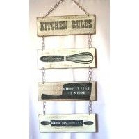 Feathermoon Design - Handmade Signs - Kitchen Rules Set #3