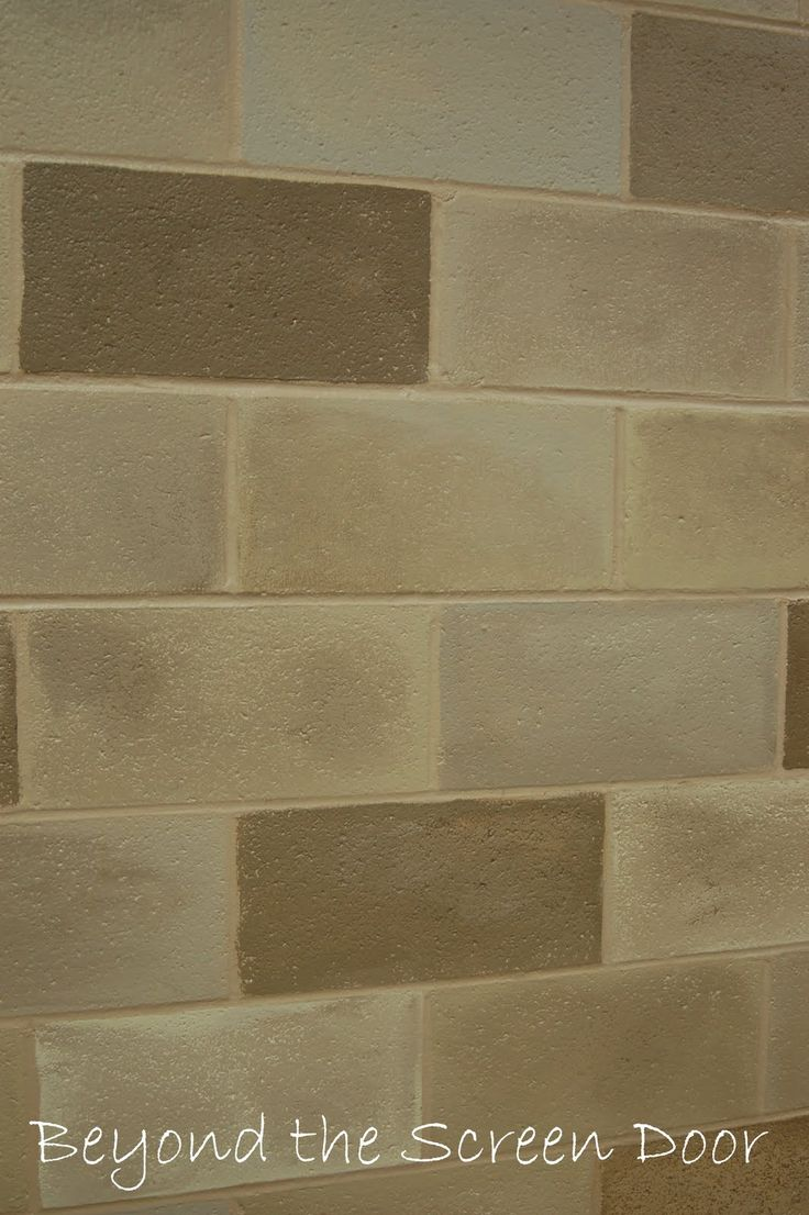 1000 ideas about cinder block walls on pinterest block for Concrete block basement walls
