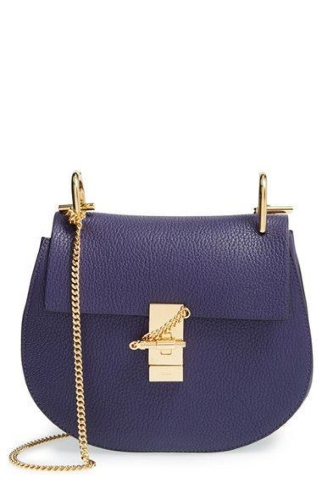 Shoulder Bag for Women, See By Chloe, Dark Blue, suede, 2017, one size Chlo