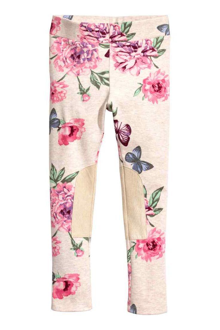 Legging - Lichtbeige/bloemen - | H&M NL