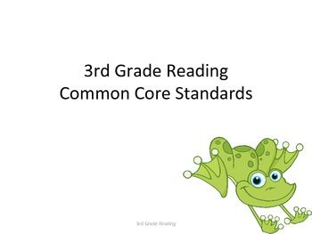 3rd Grade Common Core Reading Standards for Posting...