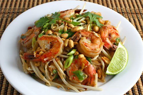 Pad Thai (faster version). For when I'm in a pinch and just basically want the noodles and sauce. Often I include the shrimp since that defrosts and cooks quickly too.