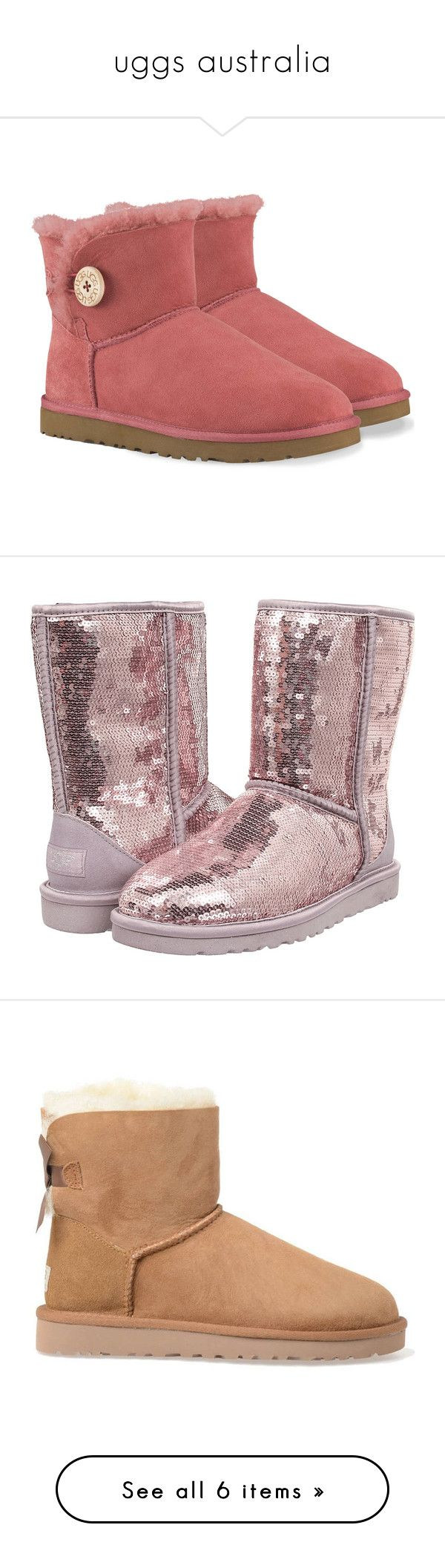"""""""uggs australia"""" by physcoslut ❤ liked on Polyvore featuring shoes, boots, ankle booties, uggs, verde, short fur boots, ankle boots, ugg australia boots, ugg australia and green hunter boots"""