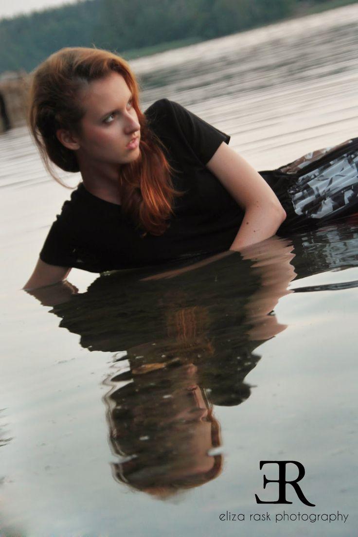 Water fashion portrait