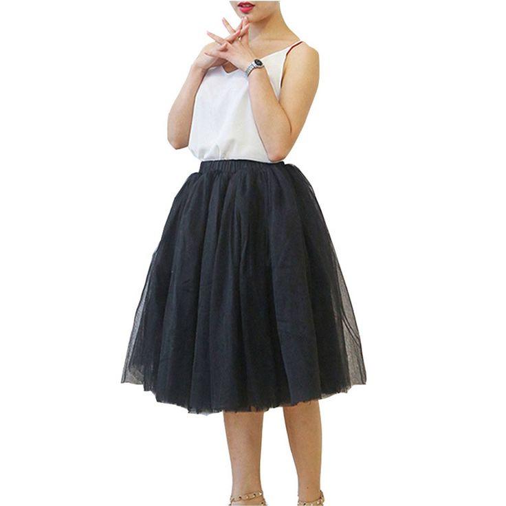 Tortoise & Rabbit Women's 6 Layer Tulle Gauze Ballet Dance Maxi Beach Long Tutu Skirt (Black). Skirt Length: 65cm (25.6''), Waist: 60-80cm (23.6-31.5''), Lining:57cm (22.4''), Hem: 200cm (78.7''). Size: Asian M. 6 Layer Mid Calf Skirt with Lining. Elastic Waist fits for most people. Occasion: Ceremony, Party, Drama, Streetwear.