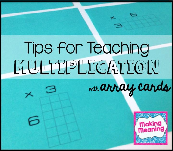 72 best teacher ideas images on pinterest school activities and multiplication with array cards fandeluxe Gallery