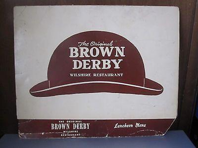 The Brown Derby Restaurant 60's Luncheon Menu Hollywood Boulevard California   eBay