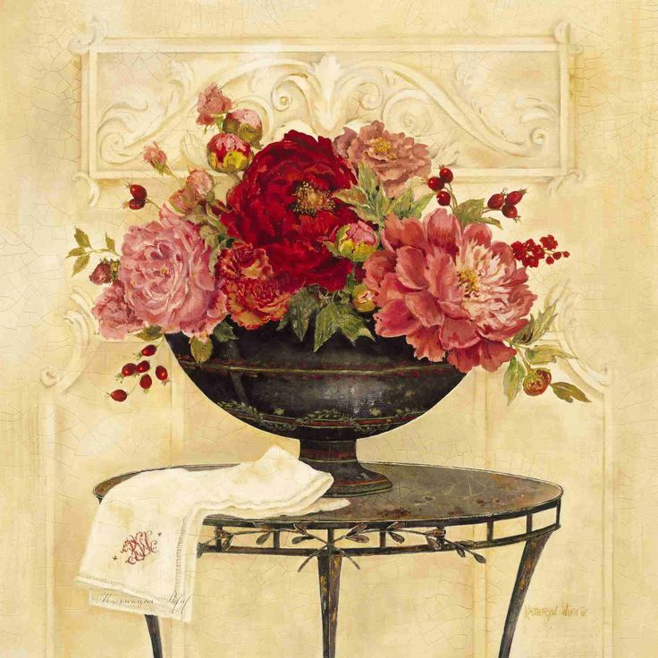 Linen and Peonies (Kathryn White)