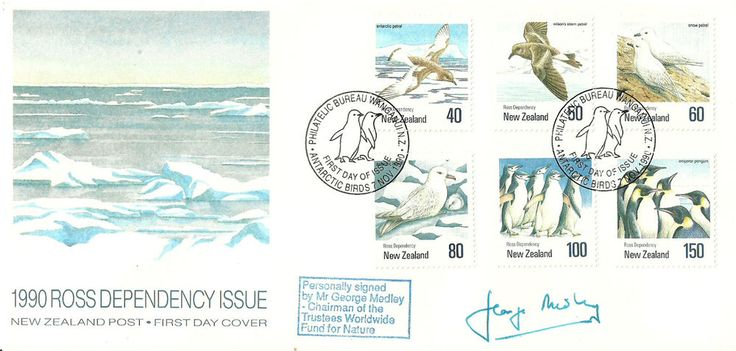 1990 Ross Dependency Issue FDc signed by Mr George Medley Just listed...Check it out now!!!