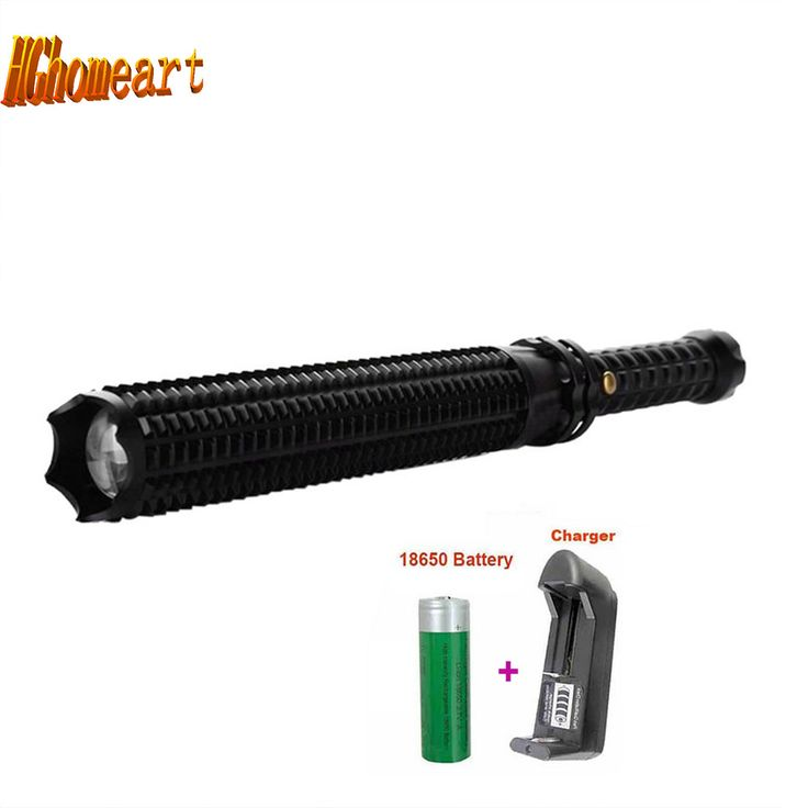 High Quality 3 Mode Baseball High Power Flashlight Led 2000LM CREE Q5 Spiked Baseball Torch Lamp Lights Military Tactical Gear