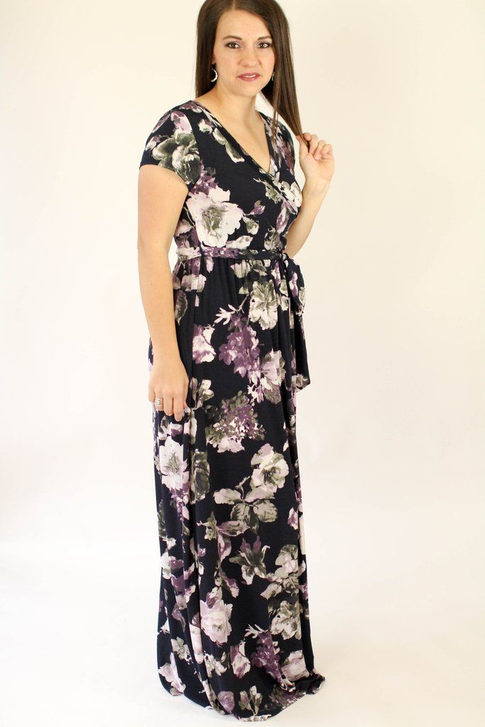 Did someone say nursing and maternity friendly?? What is better than a dress that youe bump can look cute in? Obe that you can wear before, during and LONG after you have your baby! The Emily Floral Wrap Dress is an all around versatile dress! We love the beautiful colors in this maxi dress too!