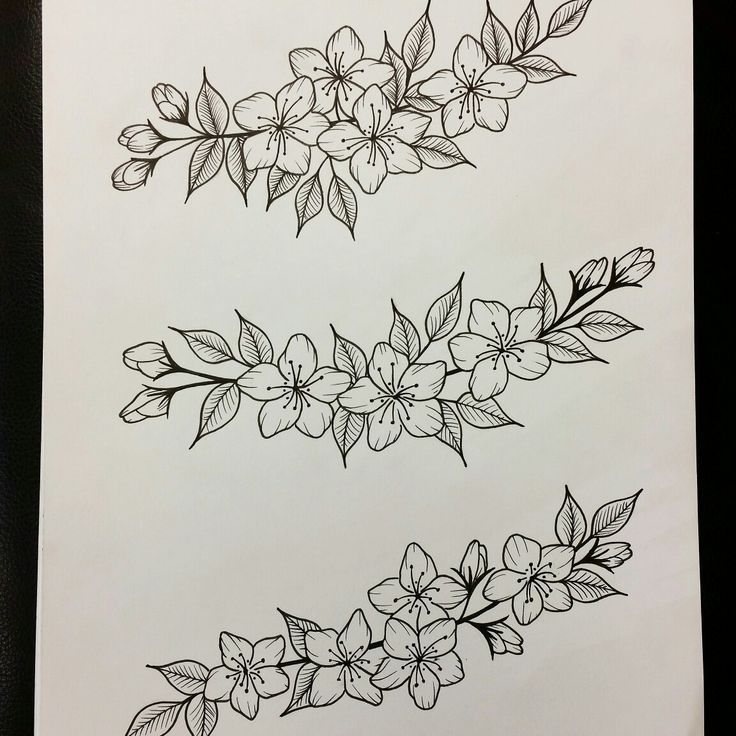 Flower tattoo design by lauraevelyn.ink
