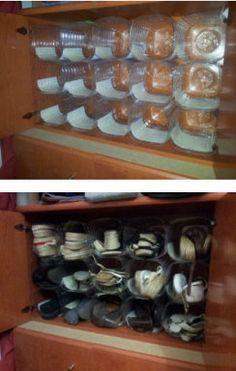 Casinha Arrumada: Organizar reutilizando.