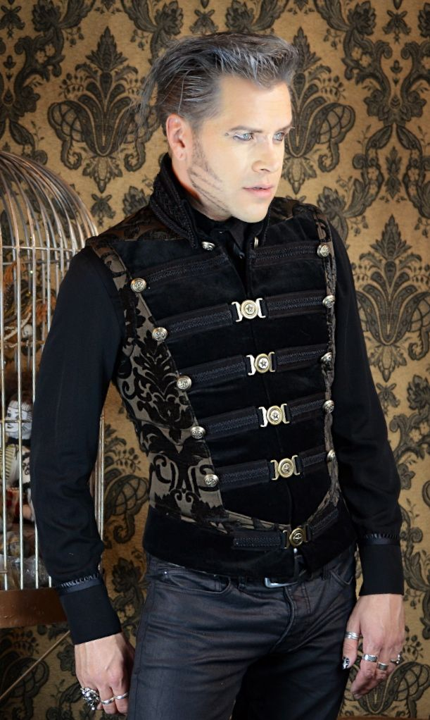 steampunk couture clothing   DOMINION VEST - BROWN VELVET ...  steampunk coutu...