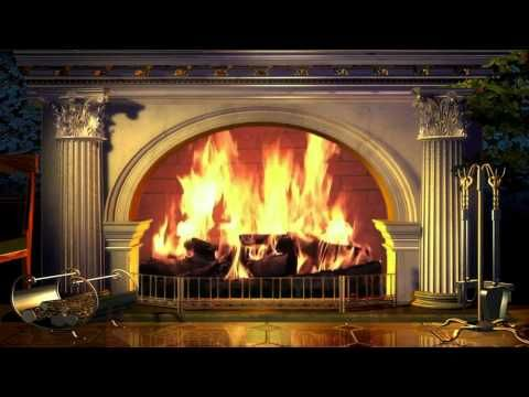 Virtual Fireplace Yule Log - Free background video 1080p HD stock video footage - YouTube