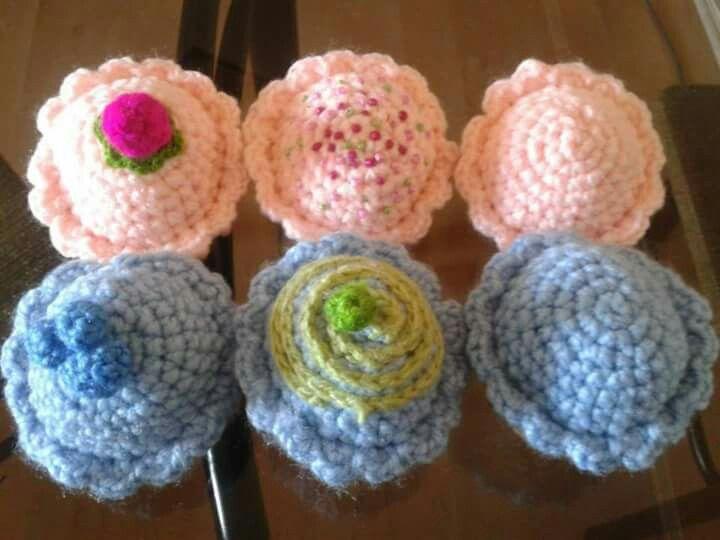 Cupcakes Crochet Planeta arcoiris