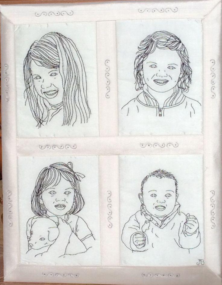 Hand Stitched Portraits