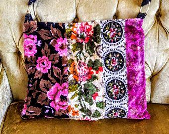 Borsa tappeto tappezzeria piuttosto floreale con rosa