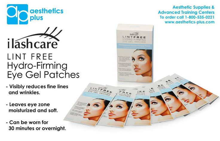 New Product Alert! We now carry ilashcare Firming Eye Gel Pads! Call 800-535-0221 or visit www.aesthtiecs-plus.com to order.