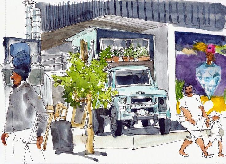 Urban Sketchers: Maboneng Precinct