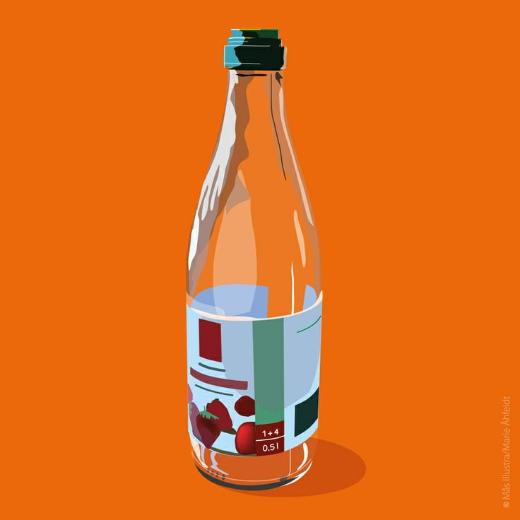 Clear glas recycling -SSSB by Marie Åhfeldt/Mås Illustra. #recycling #illustration