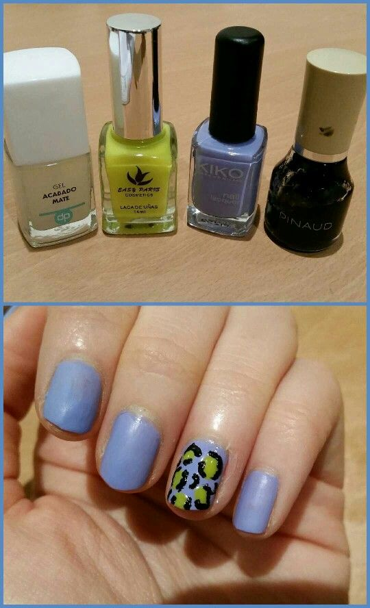 #nailart nocturno! Aquí están mis #nailsoftheweek . Base azul de Kiko, #338, combinada con gel acabado mate de Deliplus, y customizado en el anular con un print animal a partir de un esmalte amarillo flúor repasado con el color negro de Pinaud #nails #nail #fashion #style #unhas #esmalte #cute #beauty #beautiful #instagood #pretty #girl #girls #stylish #sparkles #styles #gliter #nailart #art #opi #photooftheday #essie #unhas #preto #branco #rosa #love #shiny #polish #nailpolish #nailswag