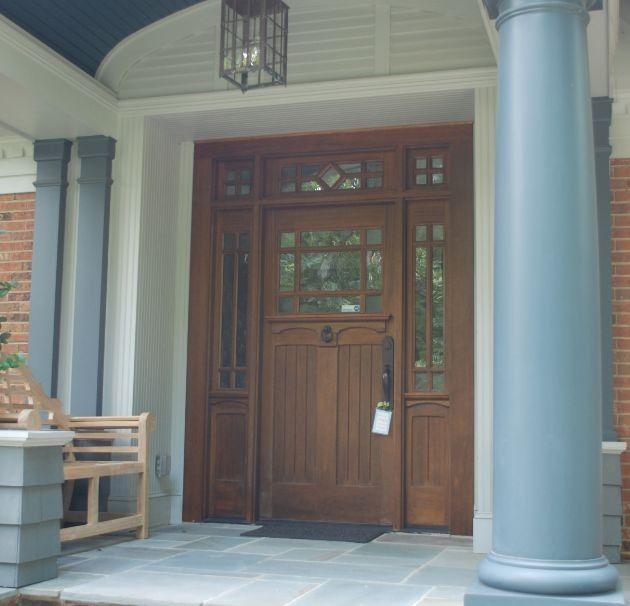 Doors: Unfinished Craftsman Wooden Front Door With Pella Craftsman Front  Door From 20 Amazing Craftsman