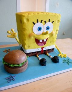 How to make a Spongebob squarepants cake. A firm favourite for any kid - big or small. OMG I want that for my bday. And if you are reading this just remember you are never to old for sponge bob okay.