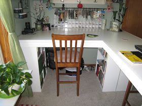 This is a Crafting Desk My husband I  built for $112.00 in materials and hardware.  It is a great sturdy desk with ample storage for all yo...