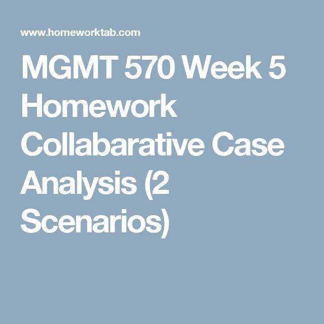 MGMT 570 Week 5 Homework Collabarative Case Analysis (2 Scenarios - case analysis