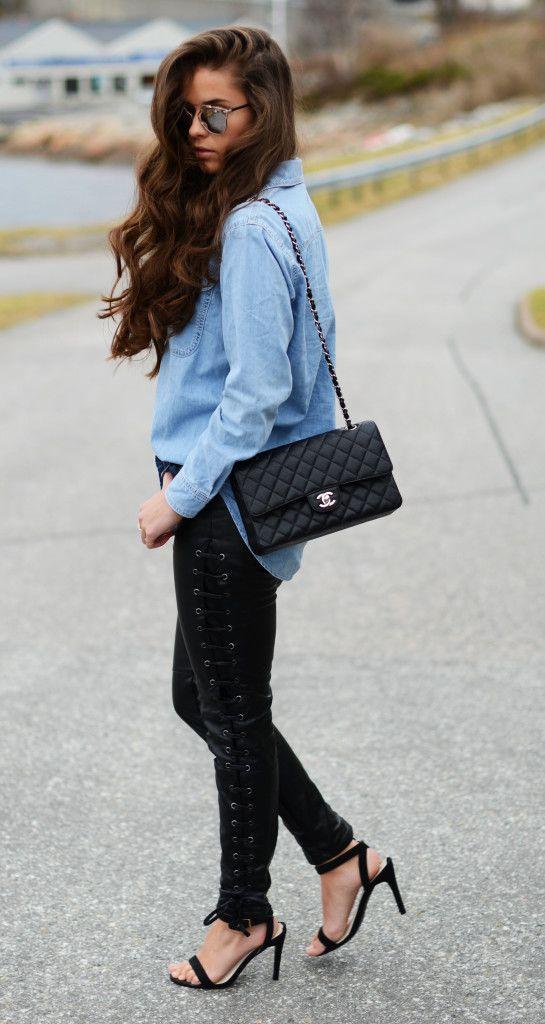 #Leatherpants #fashion #streetstyle