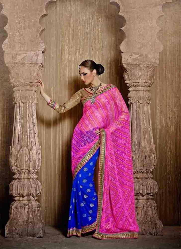 Buy 1 Get 1 Free Sari Designer Bollywood Pakistani Indian Dress Ethnic Partywear #TanishiFashion