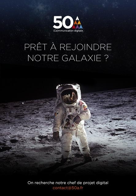 Houston ... nous avons une fusée qui attend son Chef de Projet Digital !! #CDI  Pour postuler, c'est ici : contact@50a.fr
