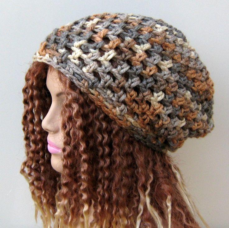 New to PurpleSageDesignz on Etsy: Neutrals slouchy beanie dread tam hippie chunky boho hat (19.00 USD)