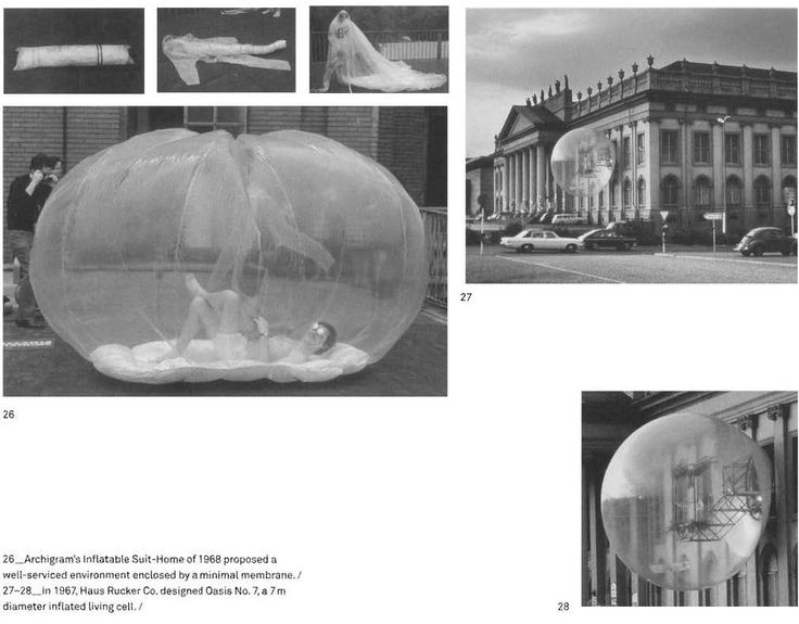 Archigram, Jean Aubert, Jean-Paul Jungmann. Inflatables (1960's). http://future-house-genealogy.blogspot.de/p/suitaloon.html