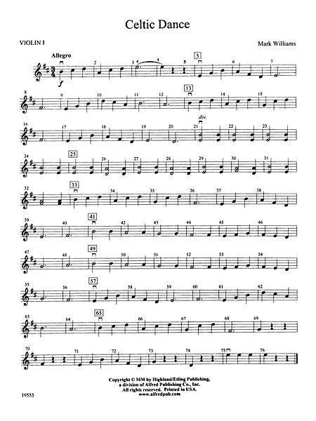 Celtic Dance: 1st Violin                                                                                                                                                     More