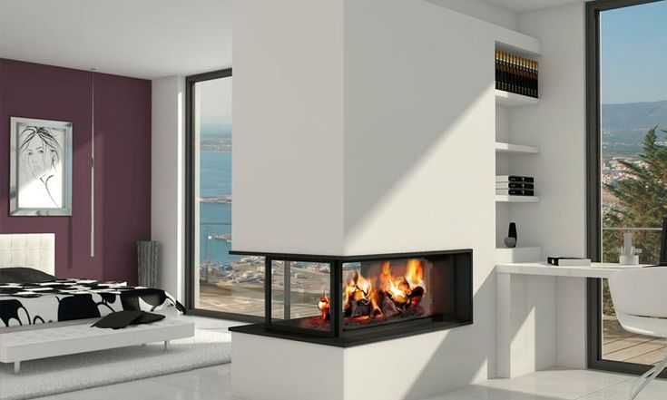 17 mejores ideas sobre chimeneas de gas en pinterest - Chimeneas doble cara ...