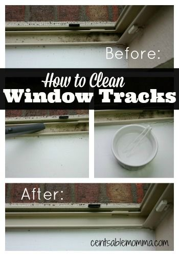 With just 1 household ingredient and some Q-tips, you can clean all the dirt out of your Window Tracks.