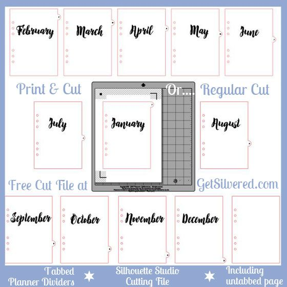 Planner dividers with tabs