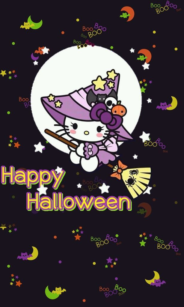 Hello Kitty Halloween Cute Wallpaper - Best iPhone Wallpaper