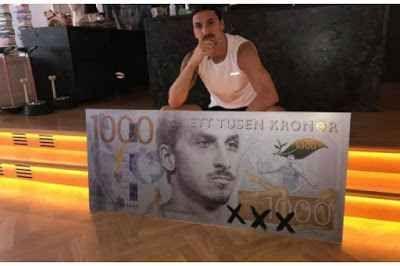 """Incredibile, ritorno di Ibra, ci siamo Eccesso di protagonismo per Zlatan? Notizia che non fa rumore, ormai ci siamo abituati, proprio lo Svedese ha pubblicato sul social """"Instagram"""" questa foto. Ecco la banconota """"Ibra"""", con il volto del #seriea #calcio #calciomercato #ibrahimovic"""