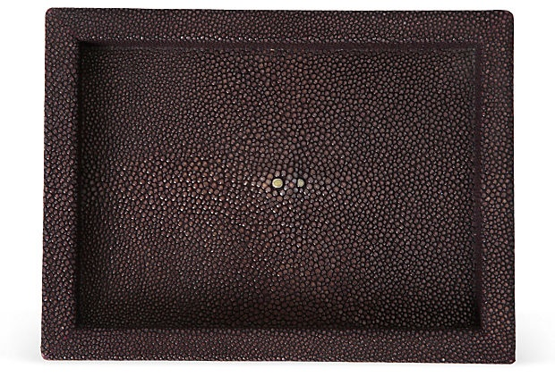 Olivia Song Purple Shagreen Coin Tray on OneKingsLane.com