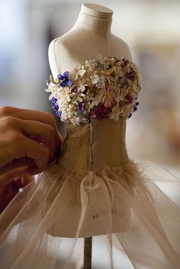Le Petit Théâtre de la Mode - in miniature form, the creations by the greatest couturiers of the period. Christian Dior.