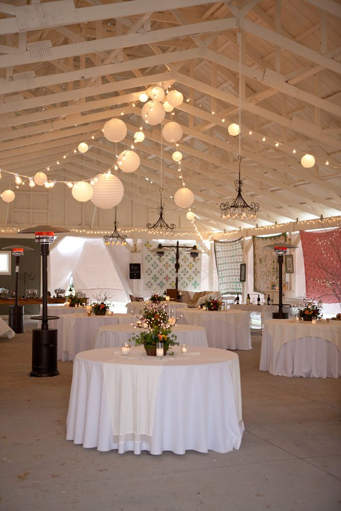 set up??...kinda...using mostly white and lace linens so that pops of color are centerpieces