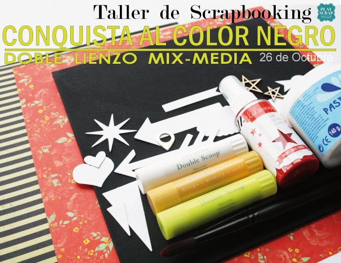 26 Octubre 2014 en Madrid, nuevo Taller de Scrapbookig en Playscrap #playscrap