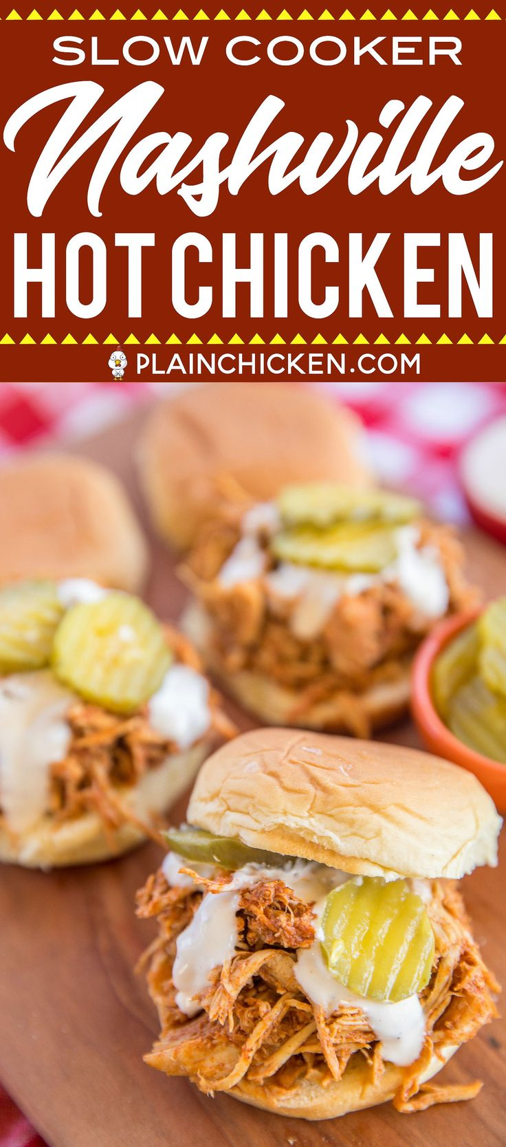 Slow Cooker Nashville Hot Chicken – adapted from the original Hattie B's Hot Chi…