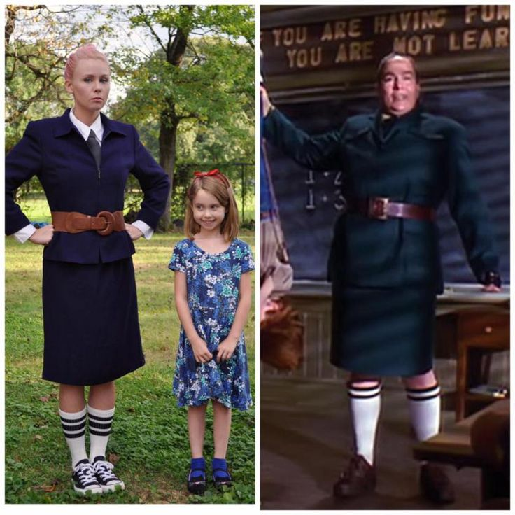 Trunchbull & Matilda costume for Halloween!