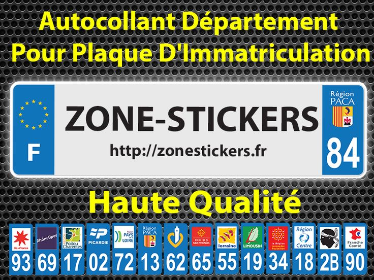 Stickers Pour Plaques D'immatriculation  Haute Qualité  https://zonestickers.fr/220-sticker-immatriculation #Sticker #Autocollant #ZoneStickers
